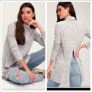 Free People Stone Cold Turtle Neck Tunic Top NWT